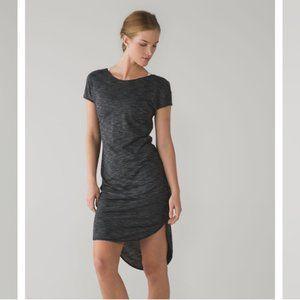 Lululemon Retreat Dress Grey Black T shirt Dress